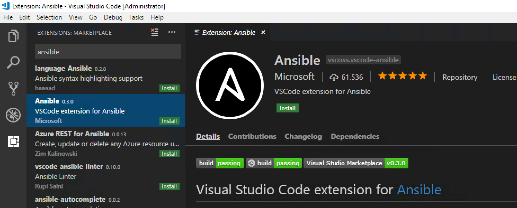 Using Ansible as a Windows Admin with Visual Studio Code, a complete