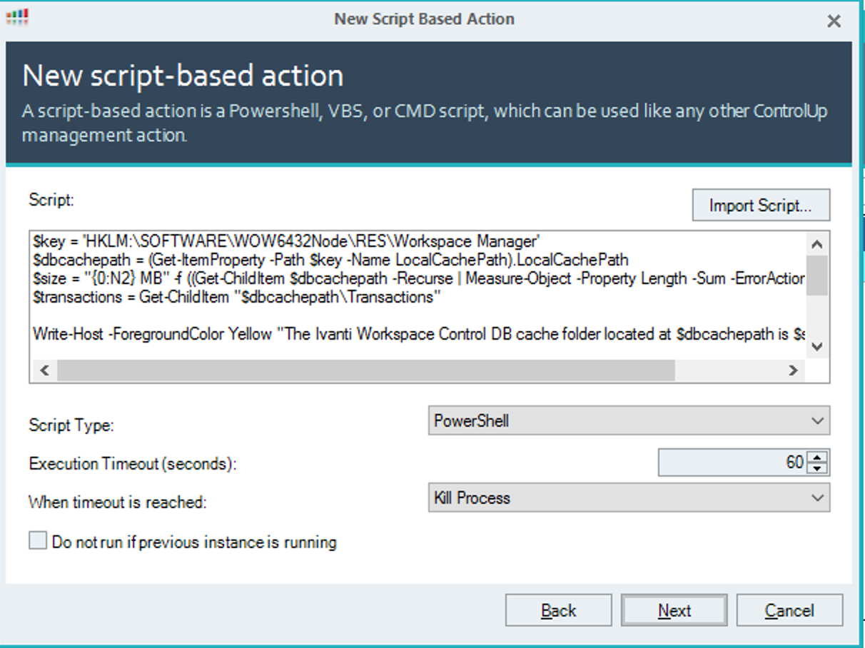 How to use and create your own ControlUp Script-Based
